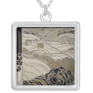 October, 1901 silver plated necklace