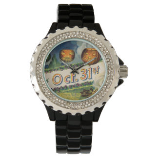 October 31st Jack O Lantern Vintage Halloween Watch