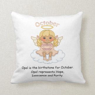 October Birthstone Angel Blonde Cushions