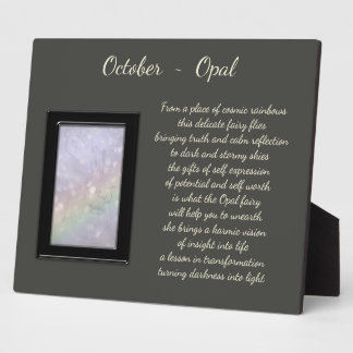 October Birthstone Opal Plaque
