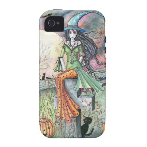 October Chill Witch by Molly Harrison iPhone 4 Case