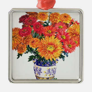 October Chrysanthemums Christmas Ornament