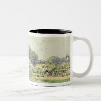 October Flowers Two-Tone Coffee Mug