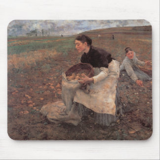October Gathering Potatoes Mouse Pad