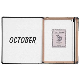 october iPad cases