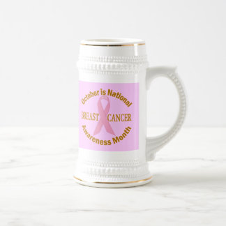 OCTOBER is Breast Cancer Awareness Month Beer Steins