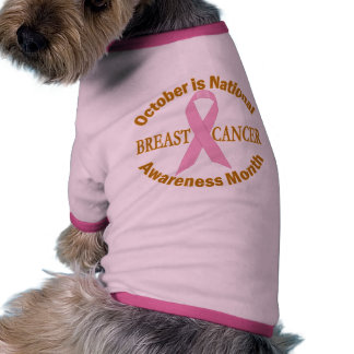 OCTOBER is Breast Cancer Awareness Month Doggie Tee Shirt
