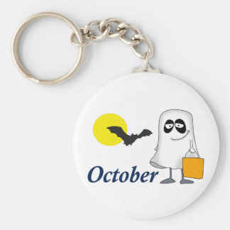 OCTOBER BASIC ROUND BUTTON KEY RING