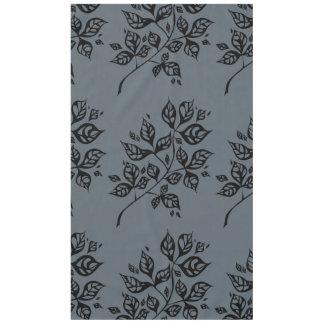 October Leaves Large Tablecloth – Black & Slate