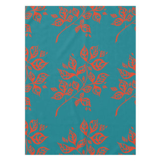 October Leaves Small Tablecloth – Orange & Teal