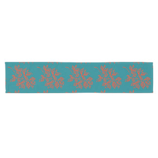 October Leaves Table Runner - Orange & Teal
