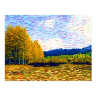 October Meadow Postcard