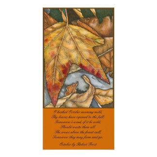 October Photo Card