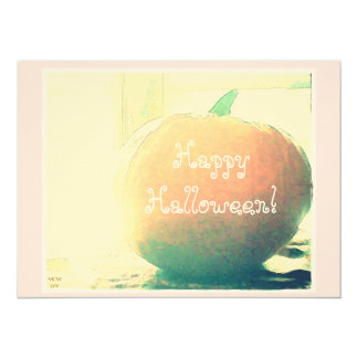 "October Pumpkin Happy Halloween* 5.5"" X 7.5"" Invitation Card"