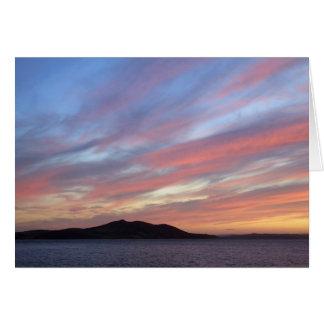 October sunset card