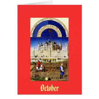 October - the Tres Riches Heures du Duc de Berry Card