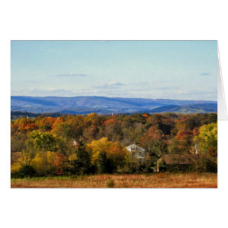 October views of the Blue Ridge Mtns. blank card