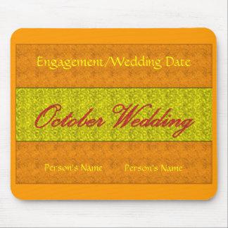 October Wedding Mousepad - Customizable Mousepads