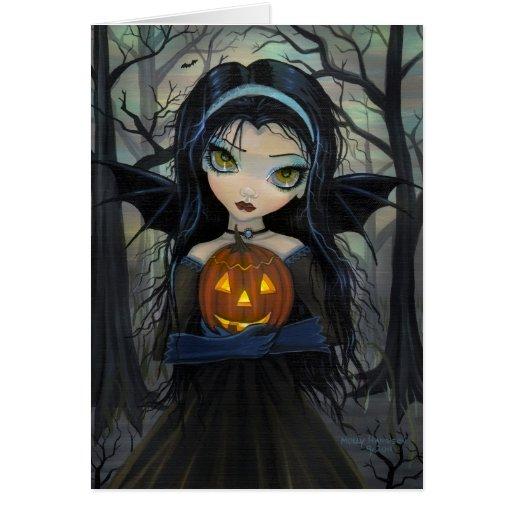 October Woods Vampire Big-Eye Halloween Card