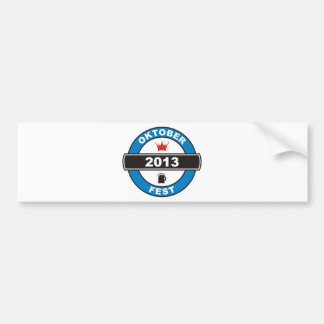 Octoberfest 2013 bumper sticker