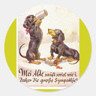 Octoberfest 4 classic round sticker