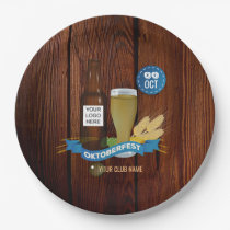 Octoberfest Club/Pub/Company add logo Paper Plate