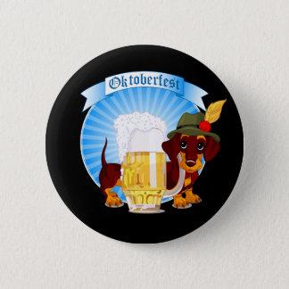 Octoberfest Dachshund, 2¼ Inch Round Button