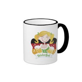 Octoberfest Mädchen Ringer Mug