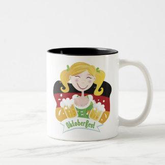 Octoberfest Mädchen Two-Tone Mug