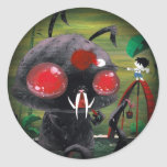 Octobunny - Fade to Black Round Sticker