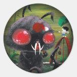 Octobunny - Fade to Black Round Sticker