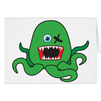 octomonster green.ai greeting card