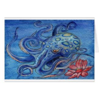 """Octopalotus"" - Octopus with Lotus Greeting Card"