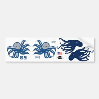 Octopi Helmet Stickers, Side and Back Bumper Sticker