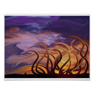 Octopi in the sky poster