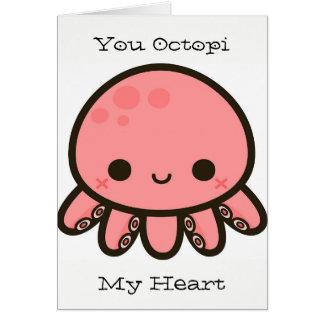 Octopi My Heart Card