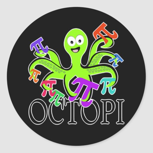octopi round sticker