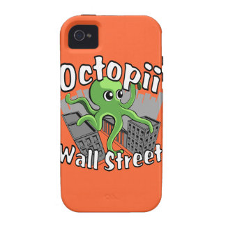 Octopii Wall Street - Occupy Wall St! Vibe iPhone 4 Covers