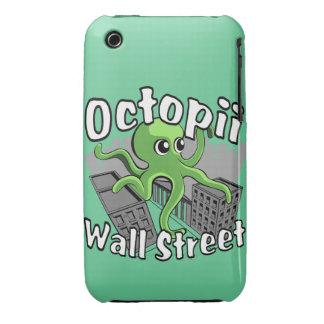 Octopii Wall Street - Occupy Wall St! iPhone 3 Covers