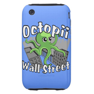 Octopii Wall Street - Occupy Wall St! iPhone 3 Tough Covers