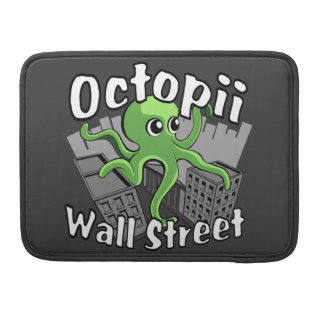 Octopii Wall Street - Occupy Wall St! Sleeve For MacBooks