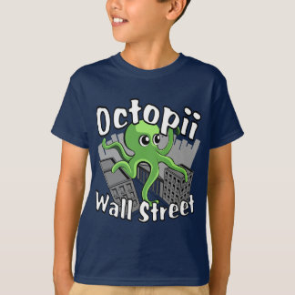 Octopii Wall Street - Occupy Wall St! T-shirts