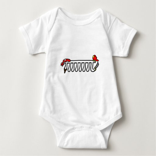 Octopirate Baby Bodysuit