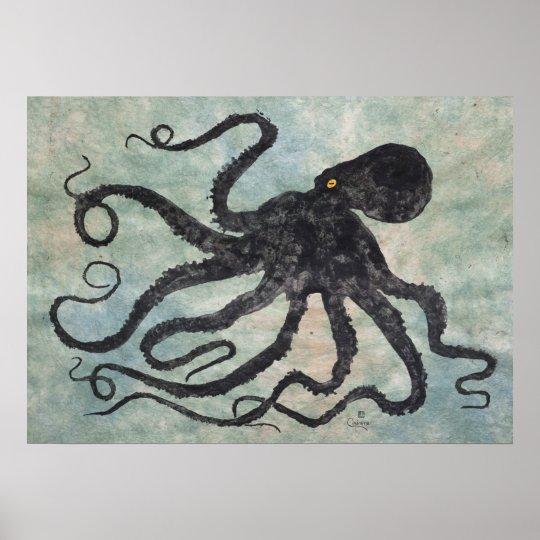 "Octopus 6 - 28"" x 20"" Poster"
