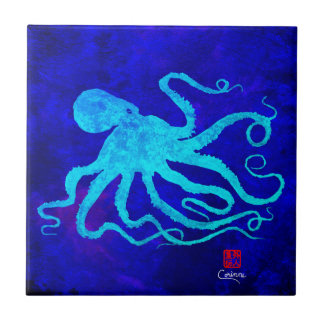 Octopus 6 L - Small Ceramic Tile