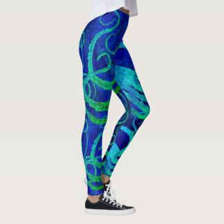 Octopus 8 Blue Green - Leggings