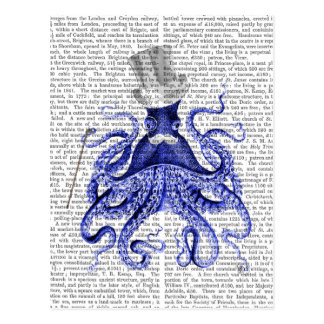 Octopus About Town Postcard
