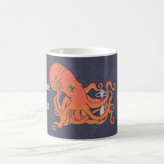Octopus and Alien Everyone Needs a Hug Basic White Mug