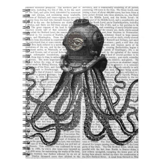 Octopus and Diving Helmet Notebooks