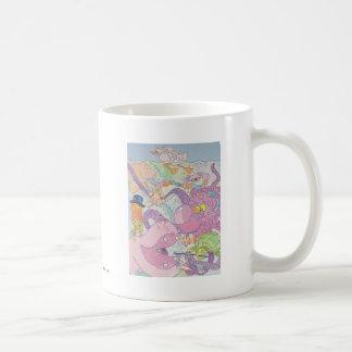 Octopus and friends basic white mug